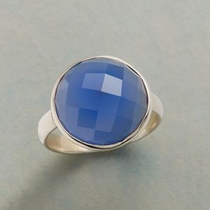 Sundance Catalog Faceted Chalcedony Sterling Ring